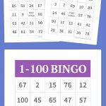 1 100 Bingo | Free Printable Bingo Cards, Bingo Cards