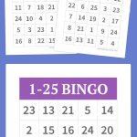 1 25 Bingo   Bingo Cards Printable, Free Printable Bingo