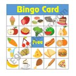 10 Food Bingo Cards   Esl Worksheetruaman