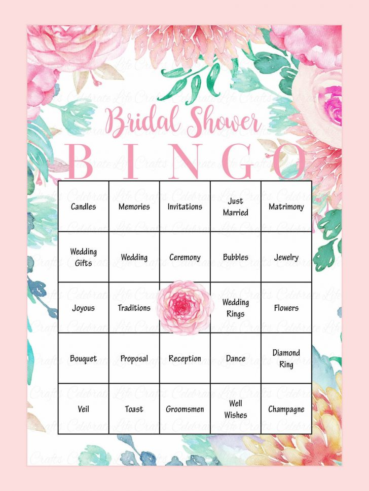 Printable Bridal Bingo Cards Free