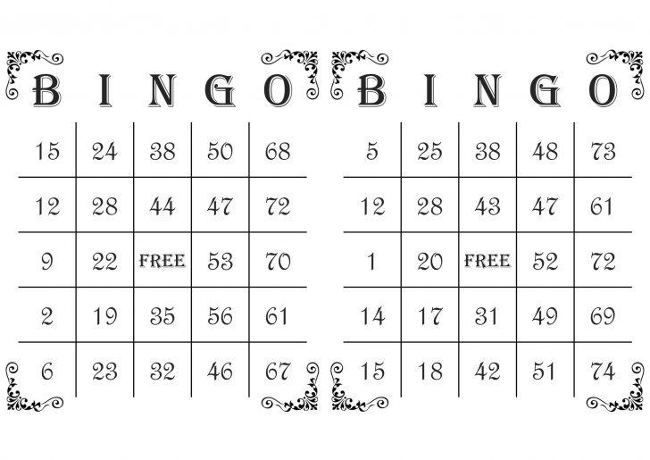Bingo Cards Printable Free PDF