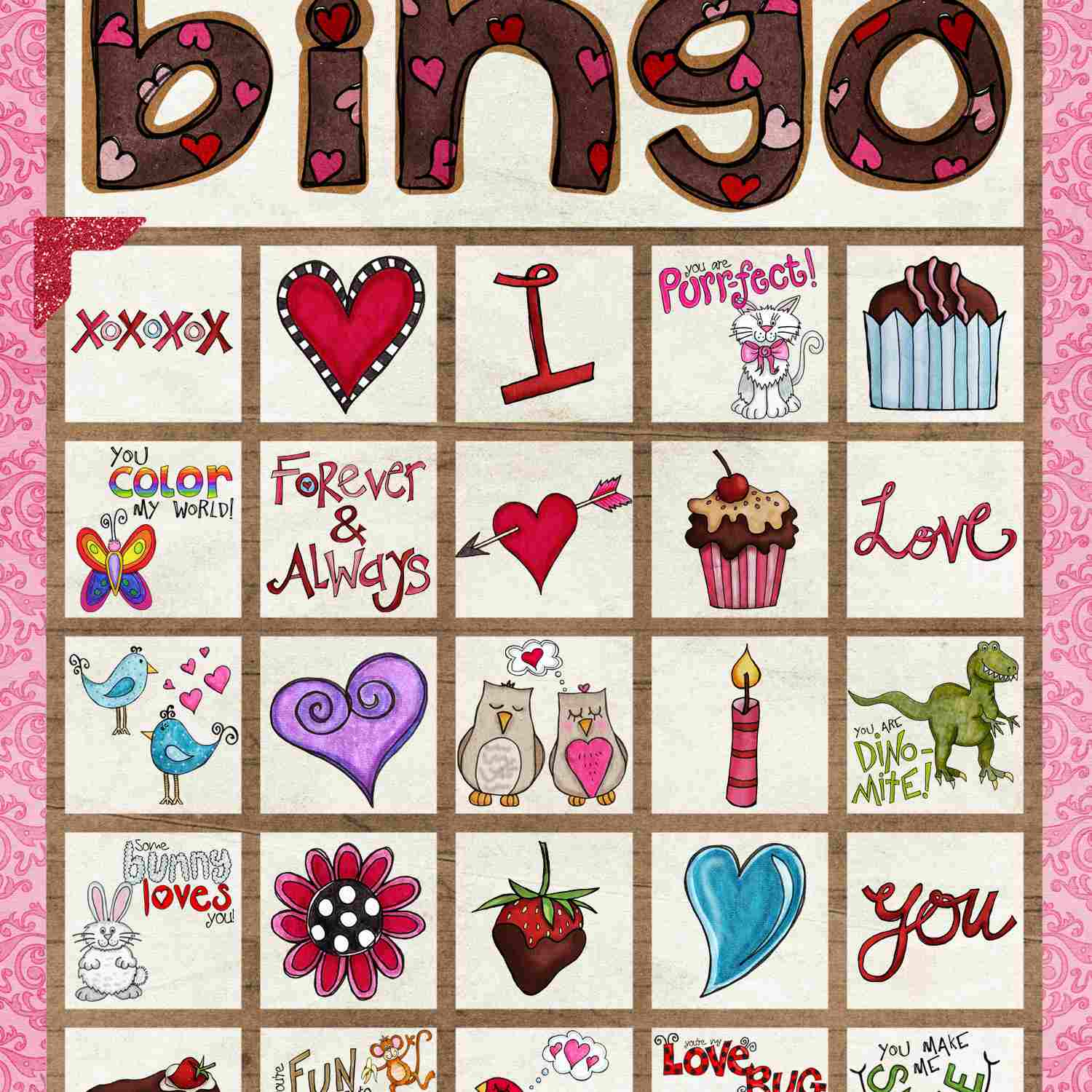 12 Sets Of Free, Printable Valentine Bingo Cards