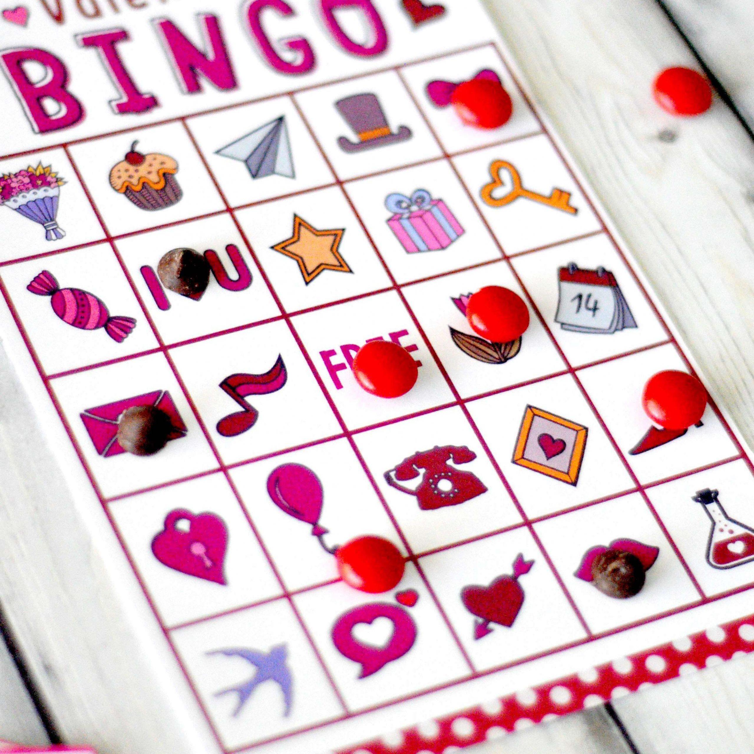 12 Sets Of Free, Printable Valentine Bingo Cards