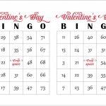 200 Valentines Day Bingo Cards, Prints 2 Per Page, Immediate