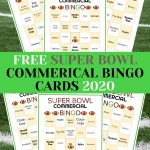 2020 Super Bowl Commercial Bingo Cards Free Printable