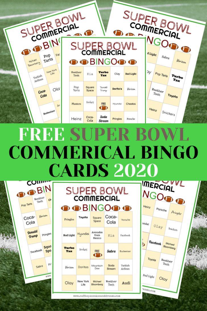 Printable Super Bowl Bingo Cards 2019