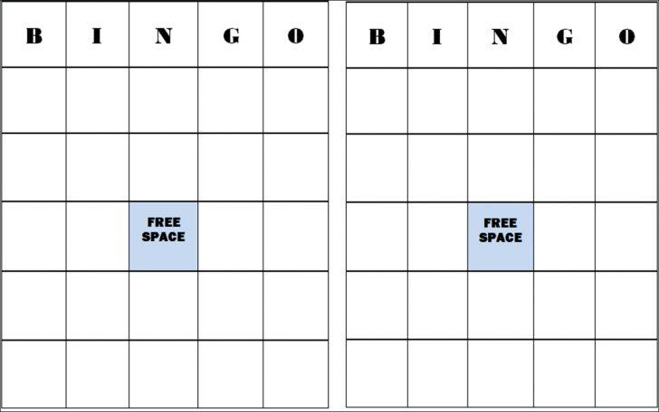 Printable Bingo Cards 2 Per Page