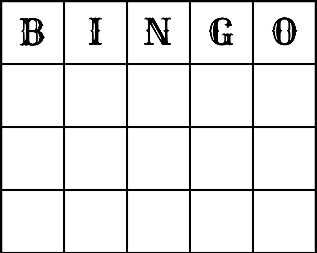 25 Amusing Blank Bingo Cards For All | Kittybabylove
