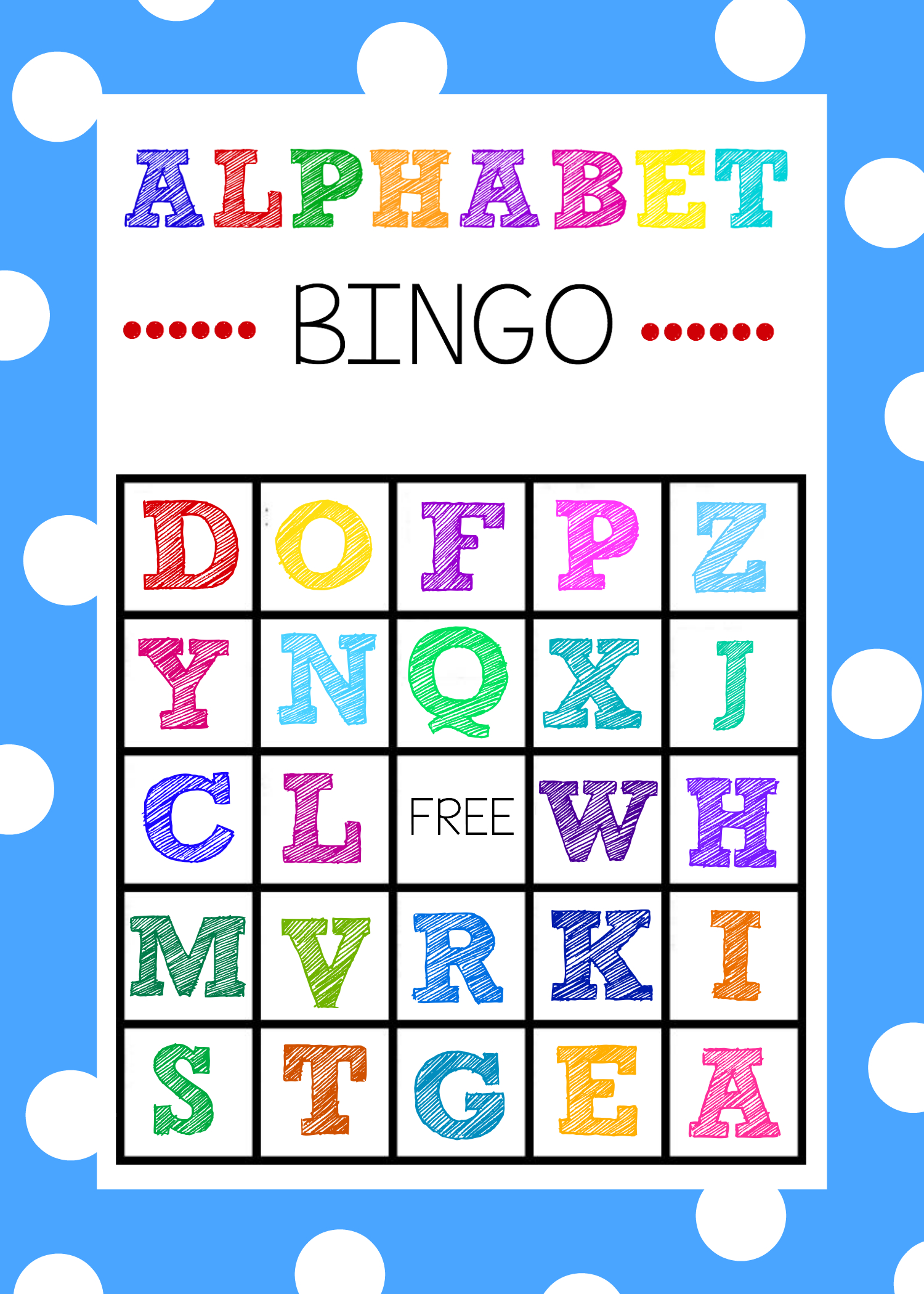 25+ Of The Best Summer Learning Activities | Alphabet Bingo