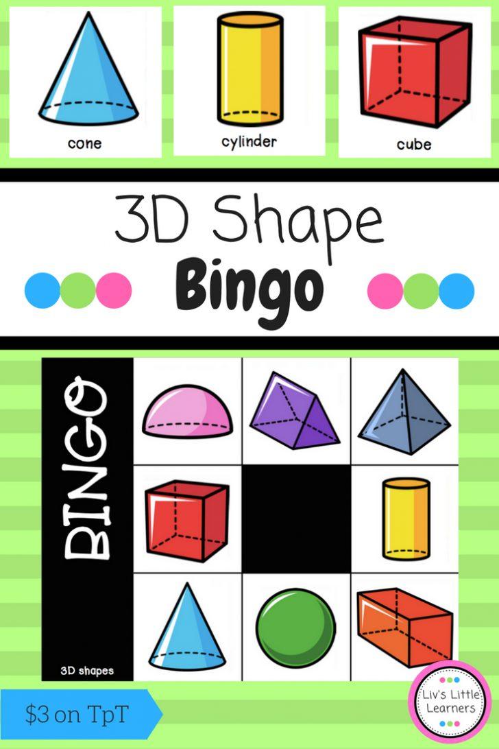 3d Shape Bingo Printable Cards