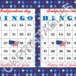 50 Happy 4Th Of July Bingo Cards   Instant Download