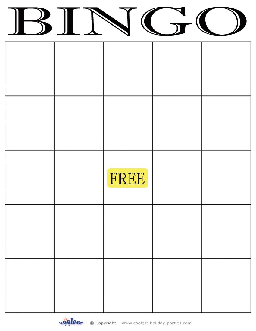 6 Best Images Of Free Printable Bingo Template - Free