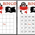 60 Pirate Bingo Cards With Numbers, Crab Bingo Game, Pirate