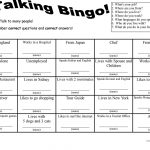 7 Questions Talking Bingo With Role Play Cards   English Esl
