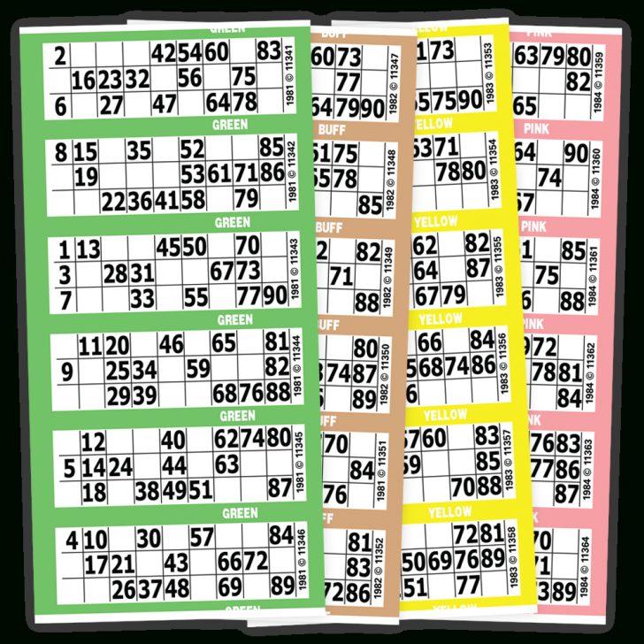 Printable Bingo Cards Numbers 1-90