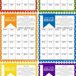 A Fun Back To School Addition & Subtraction Bingo Game For