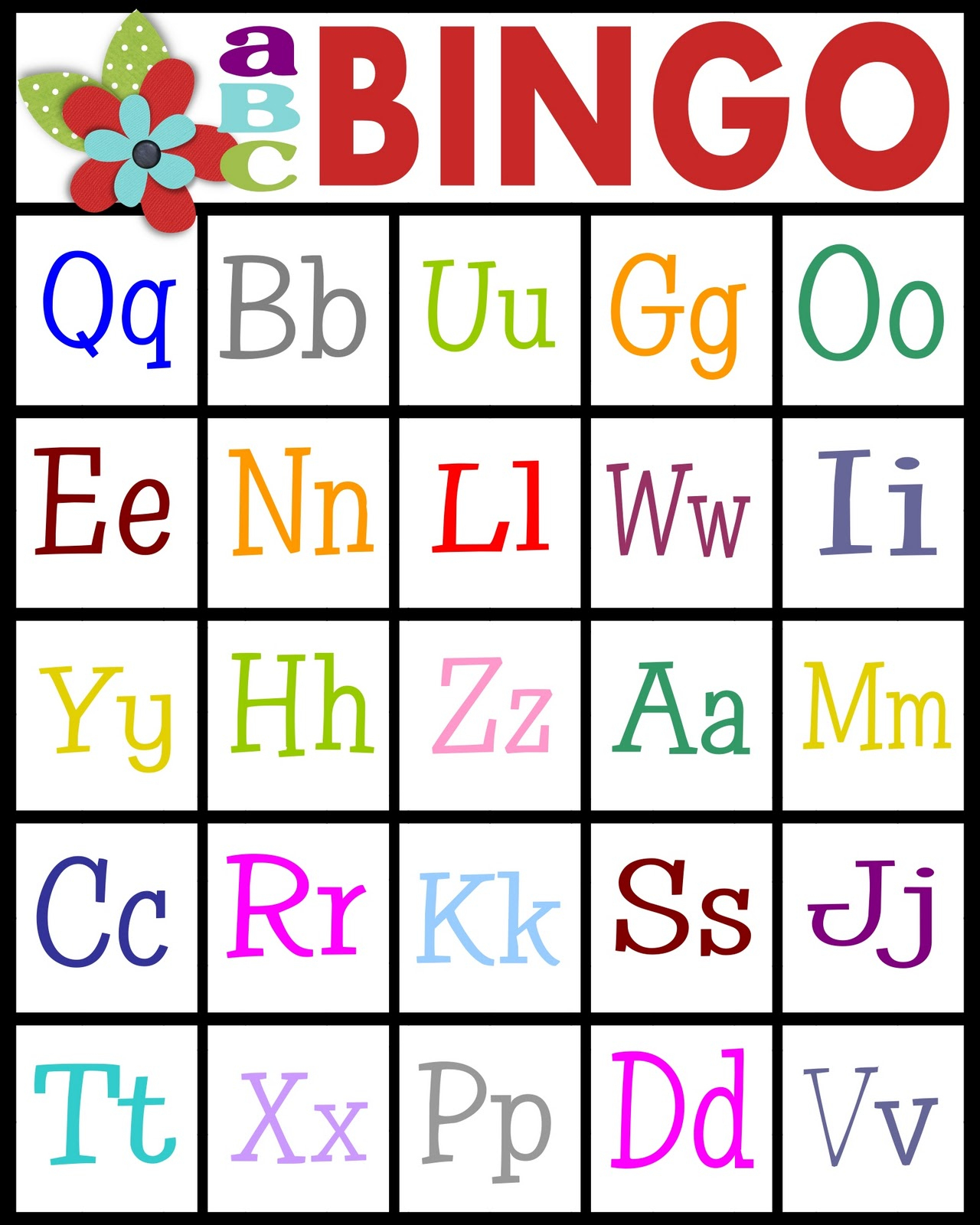 Abc's Bingo- Free Printable! - Sassy Sanctuary