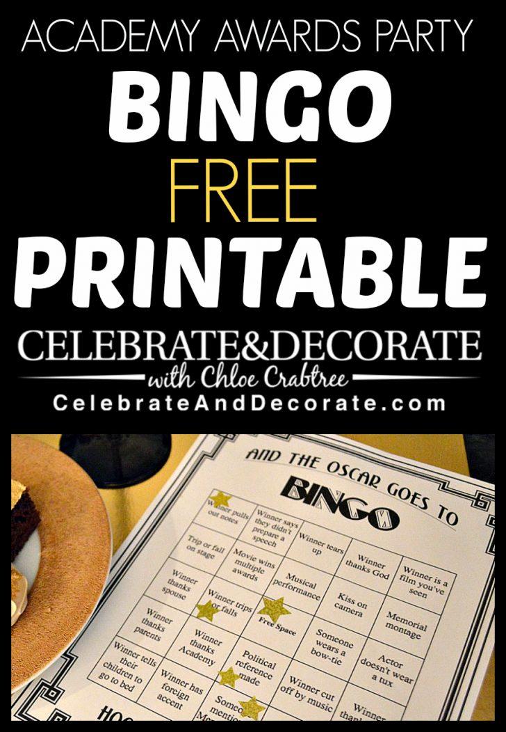 Printable Oscar Bingo Cards 2016
