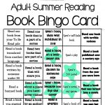 Adult Summer Reading Book Bingo Card From Sharon Public