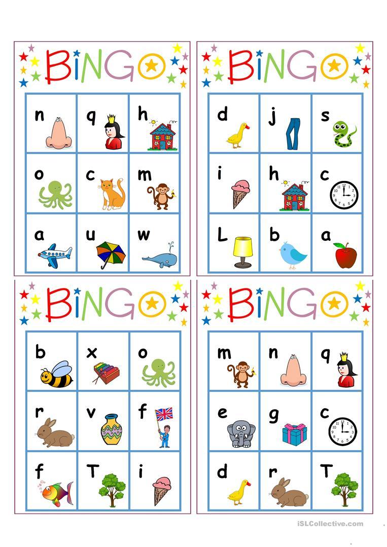 Alphabet Bingo - English Esl Worksheets For Distance