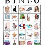An Illustrated Trip Through France   Printable Travel Bingo