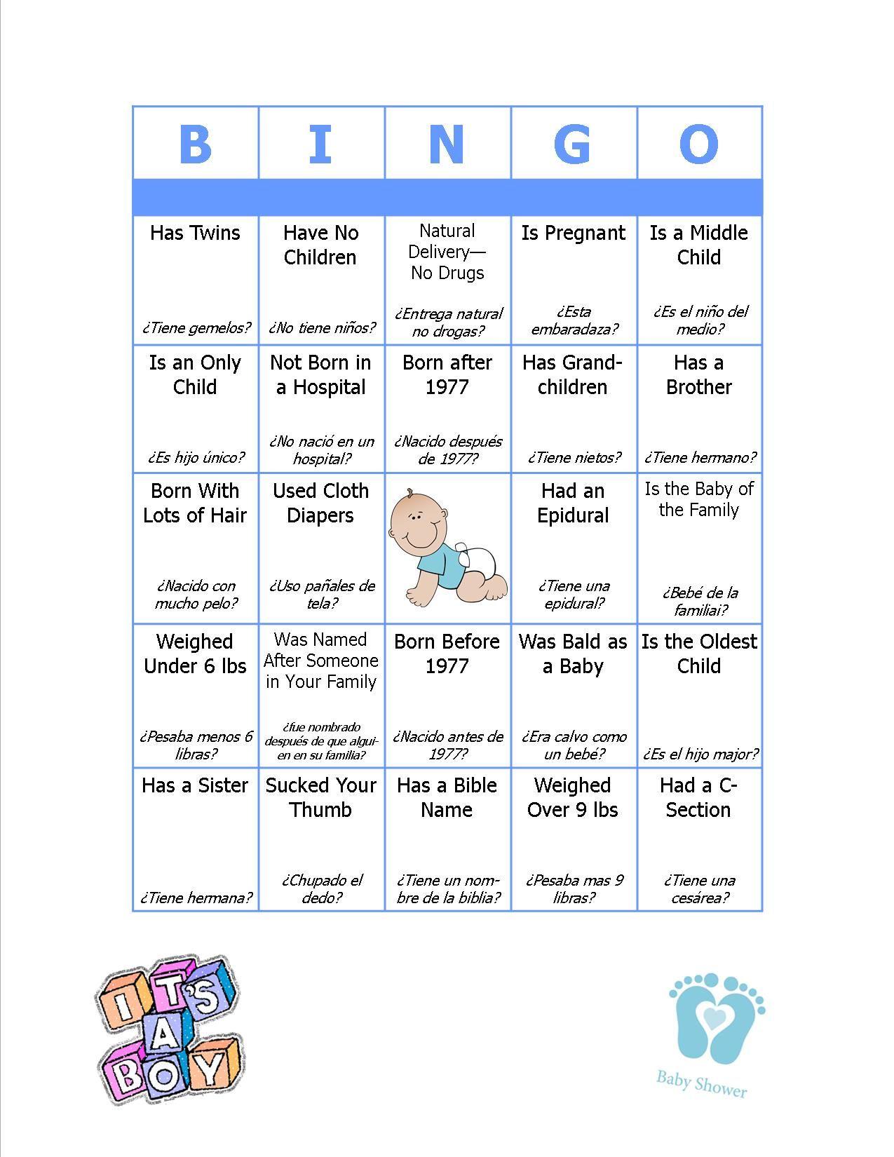 Baby Bingo Bi-Lingual -- Spanish/english | Baby Bingo, Child