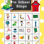 Back To School Bingo Game To Print & Play   Crazy Little