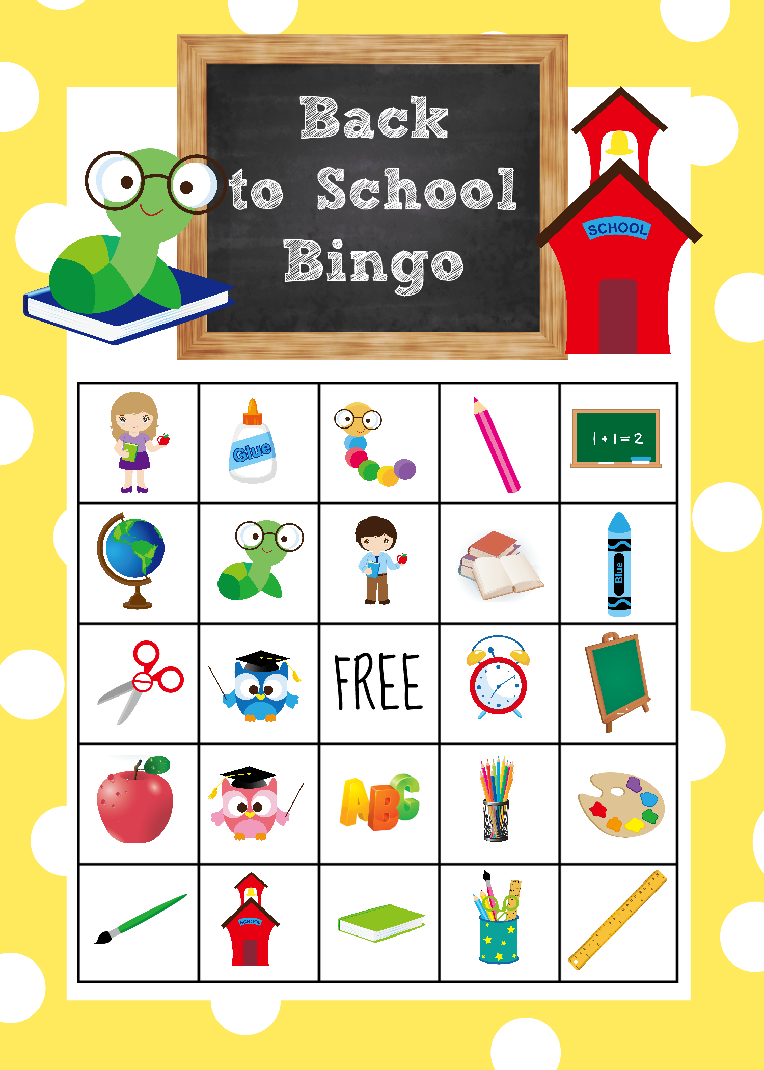 Back To School Bingo Game To Print & Play - Crazy Little
