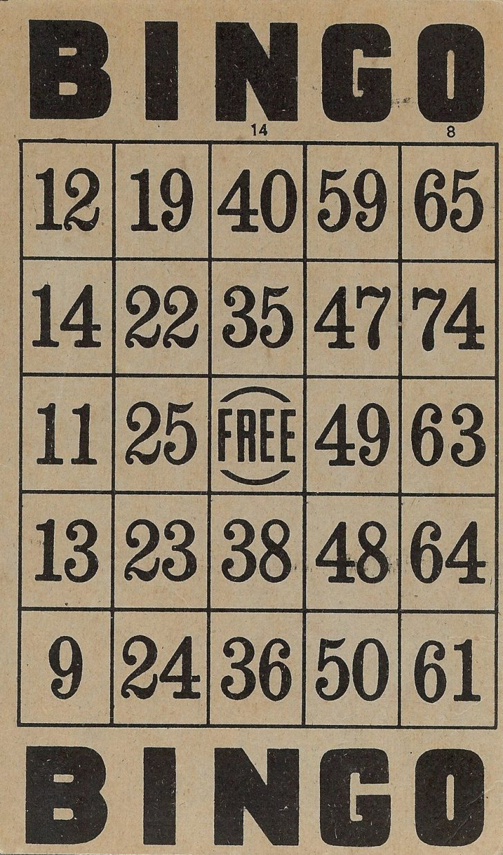 Vintage Bingo Cards Printable