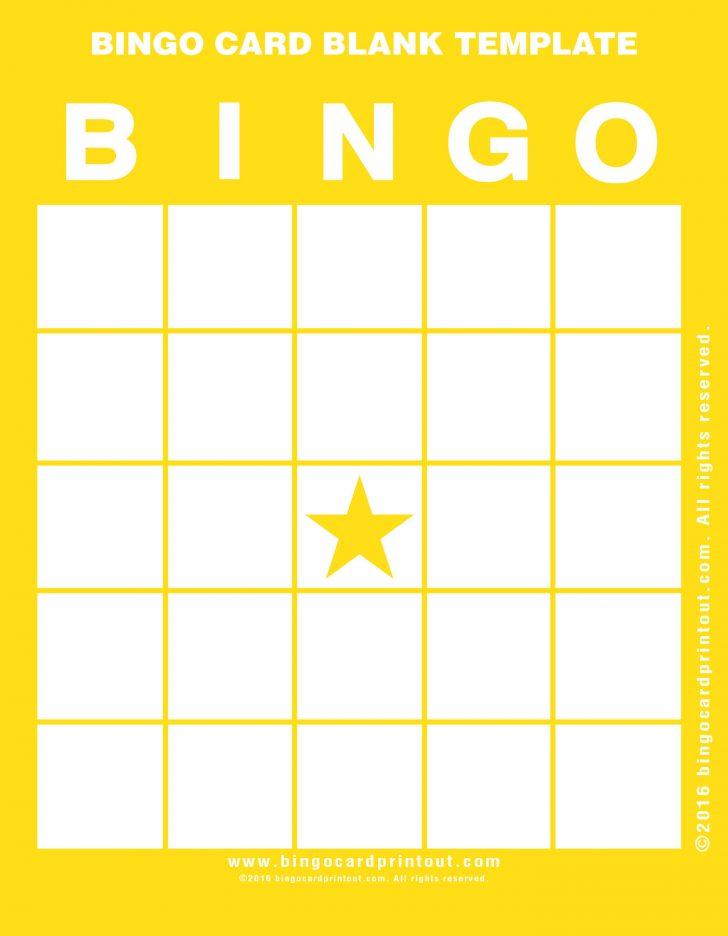 Bingo Card Printable Blank