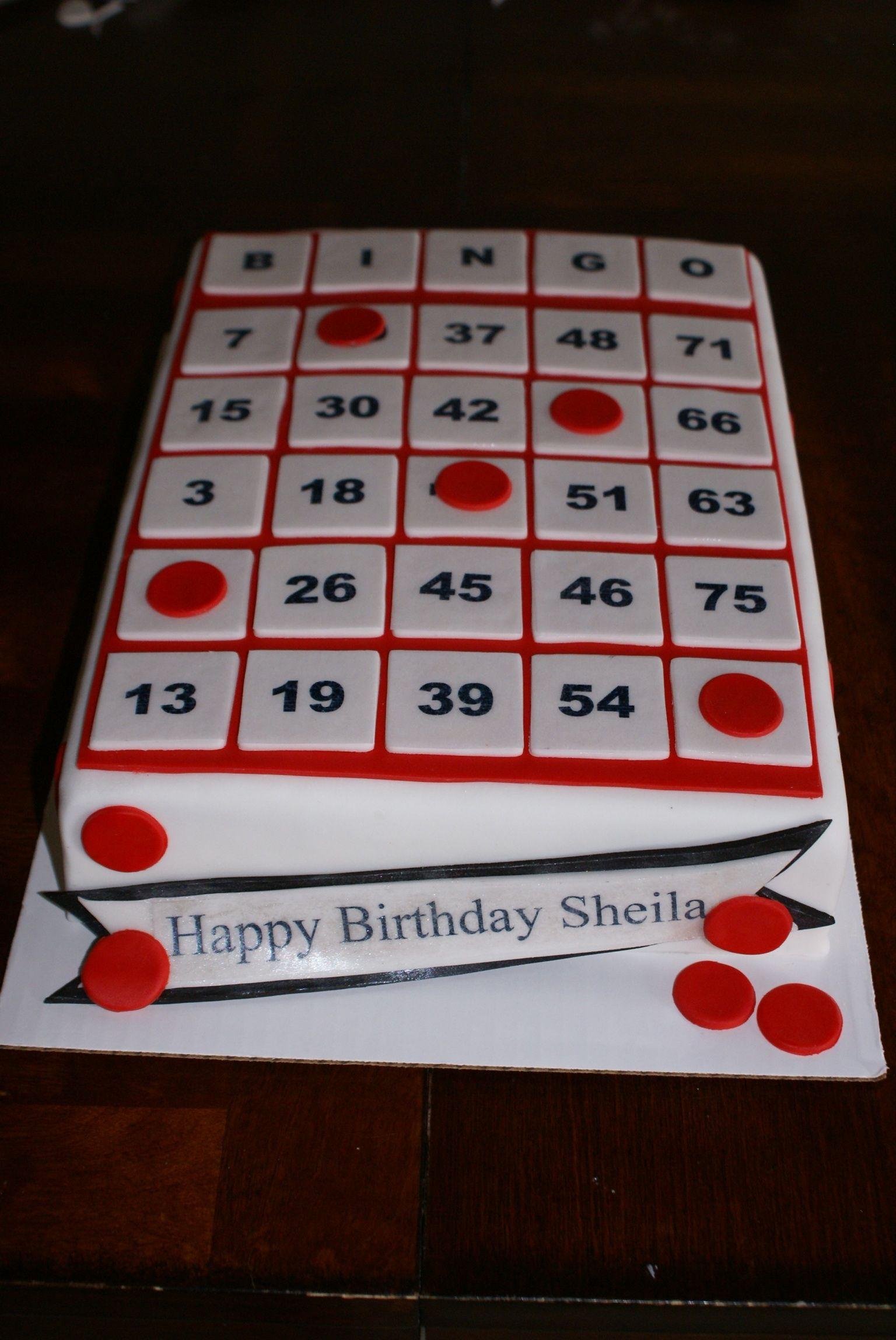 Bingo Card Cake | Bingo Cake, Bingo Party, Bingo Cards