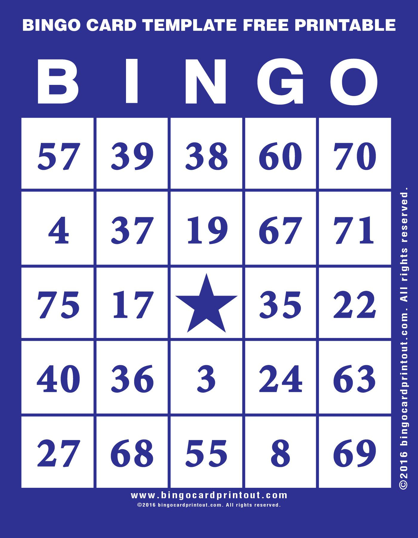 Bingo Card Template Free Printable 6 | Bingo Cards Printable