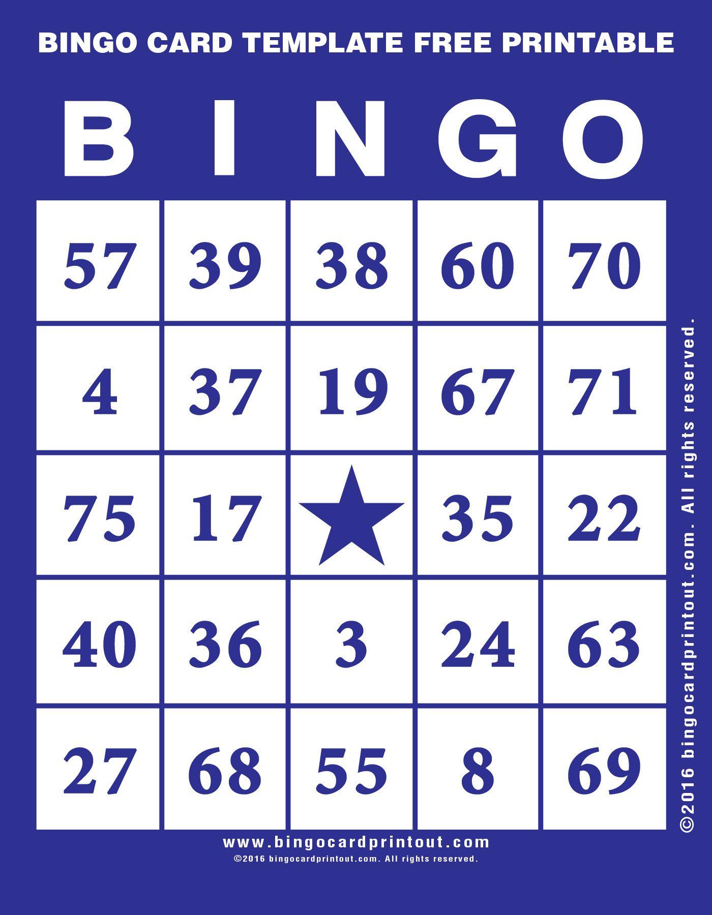 Bingo Card Template Free Printable 6 | Bingo Cards Printable