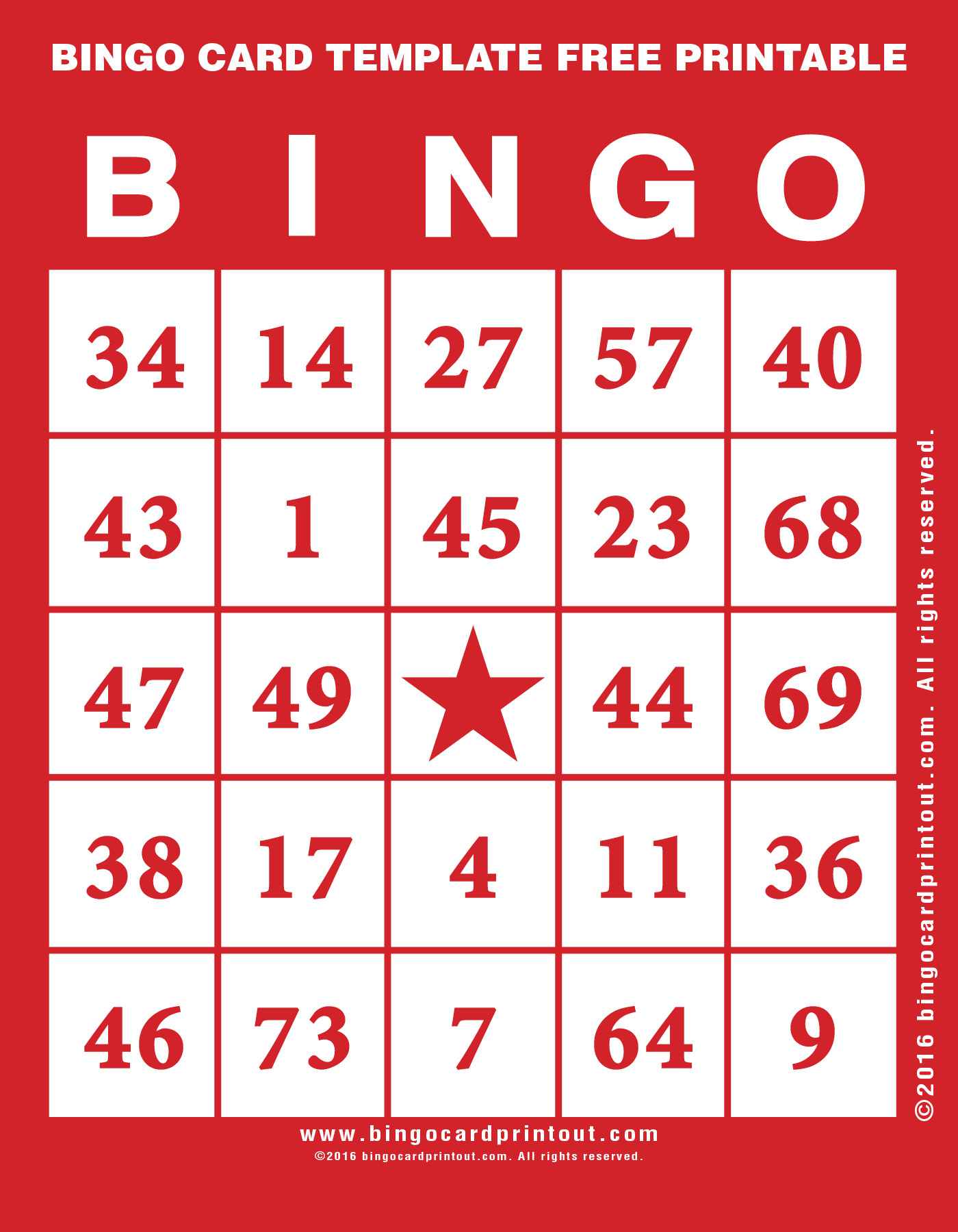 Bingo Card Template Free Printable - Bingocardprintout