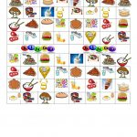 Bingo: Food And Drinks   English Esl Worksheets For Distance