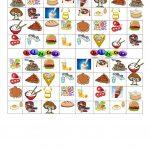 Bingo: Food And Drinks   English Esl Worksheets For Distance