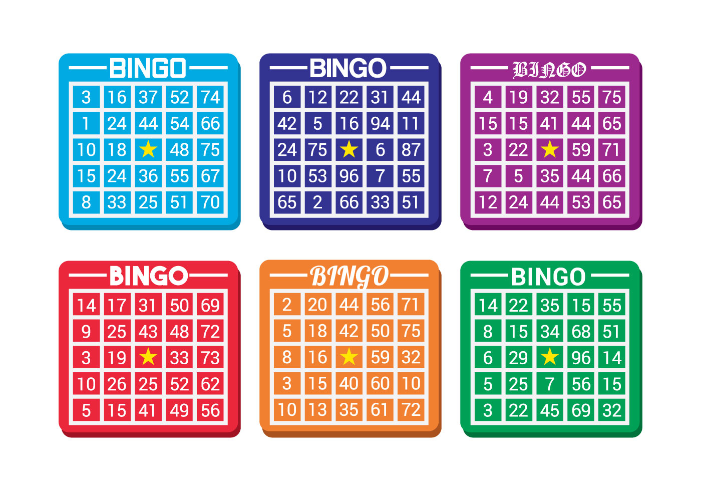 Bingo Kaart Vector - Download Free Vectors, Vector Bestanden