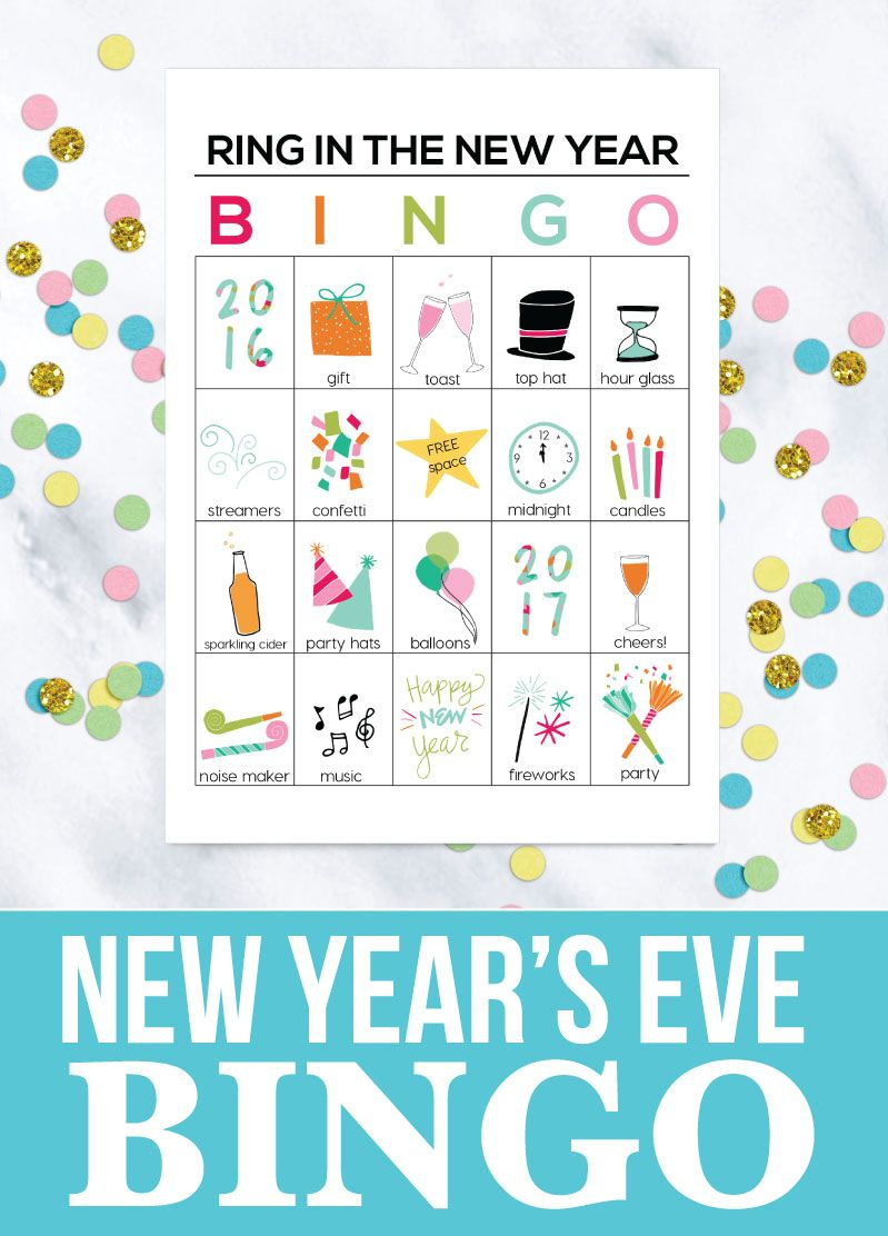 Bingo New Year Printables | New Year's Eve Crafts, Kids New