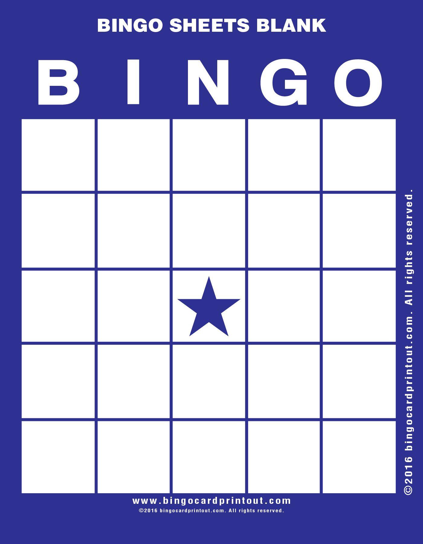Bingo Sheets Blank 6 | Bingo Cards Printable, Bingo Card
