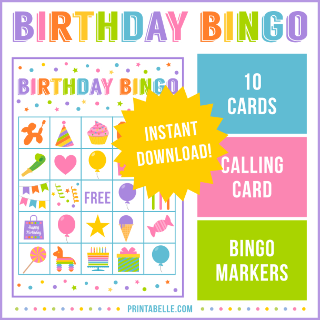 Birthday Bingo Game | Bingo, Printable Games For Kids