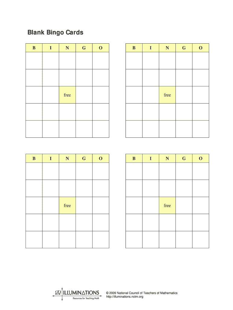 Blank Bingo Cards - Fill Out And Sign Printable Pdf Template | Signnow