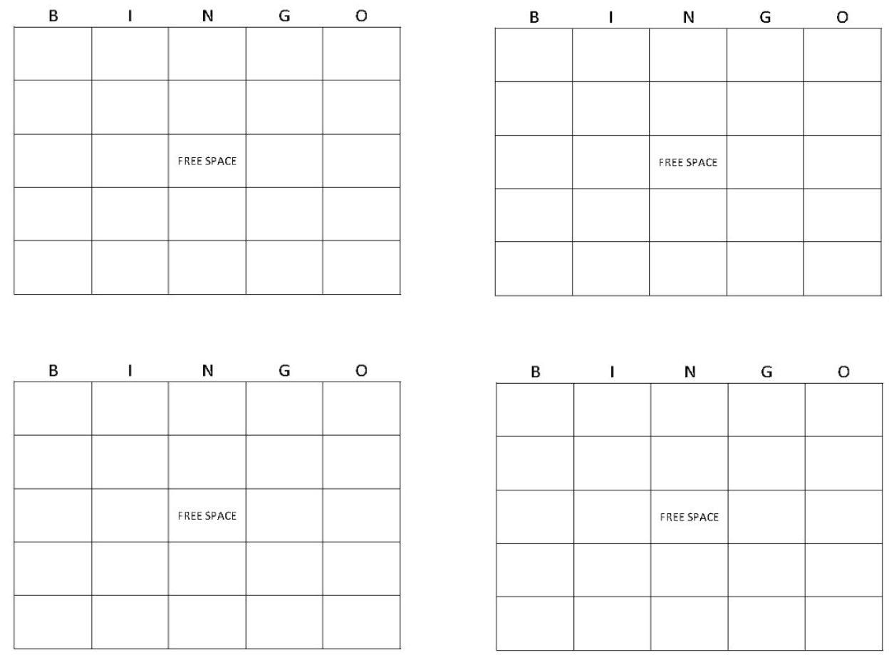 Blank Bingo Cards | Get Blank Bingo Cards Here