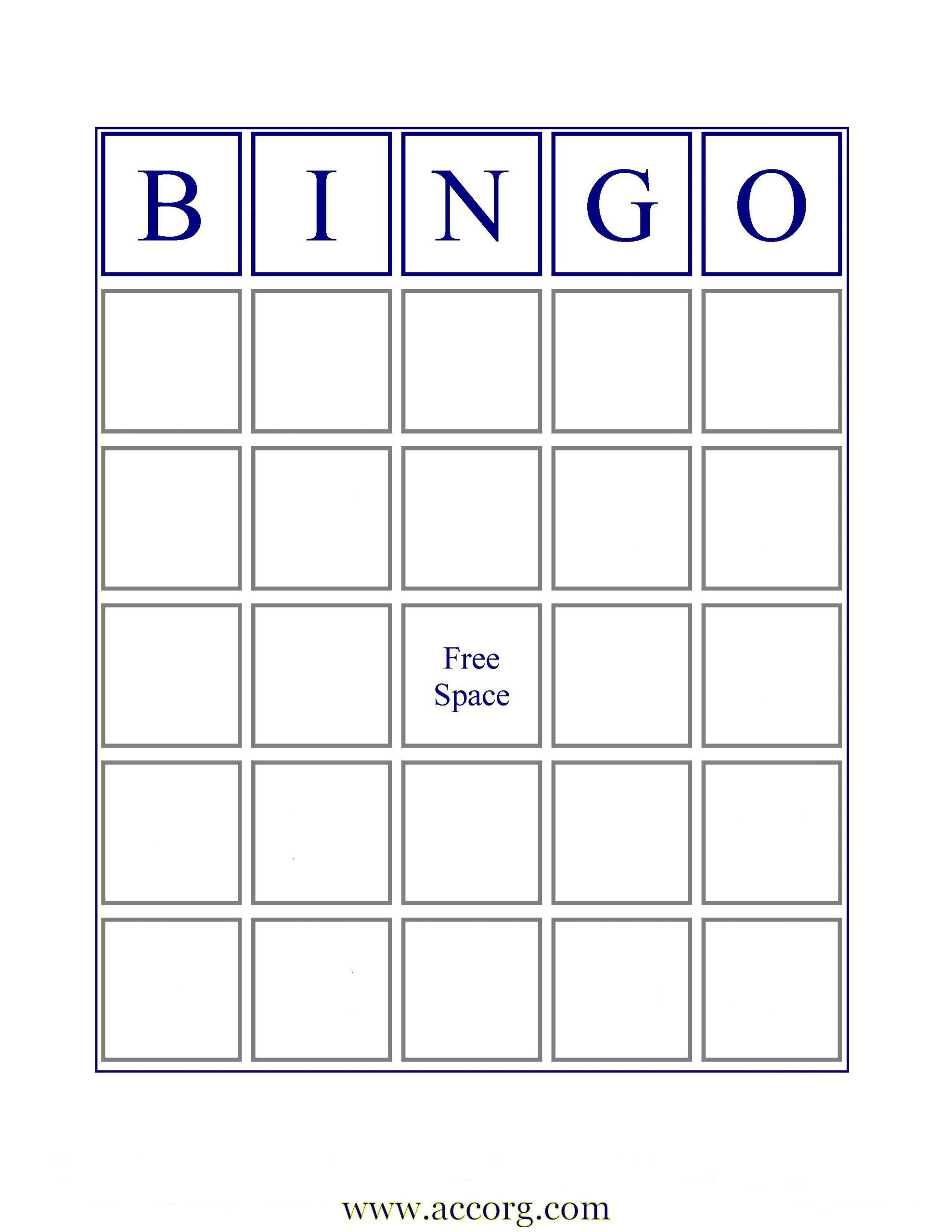 Blank Bingo Cards | If You Want An Image Of A Standard Bingo
