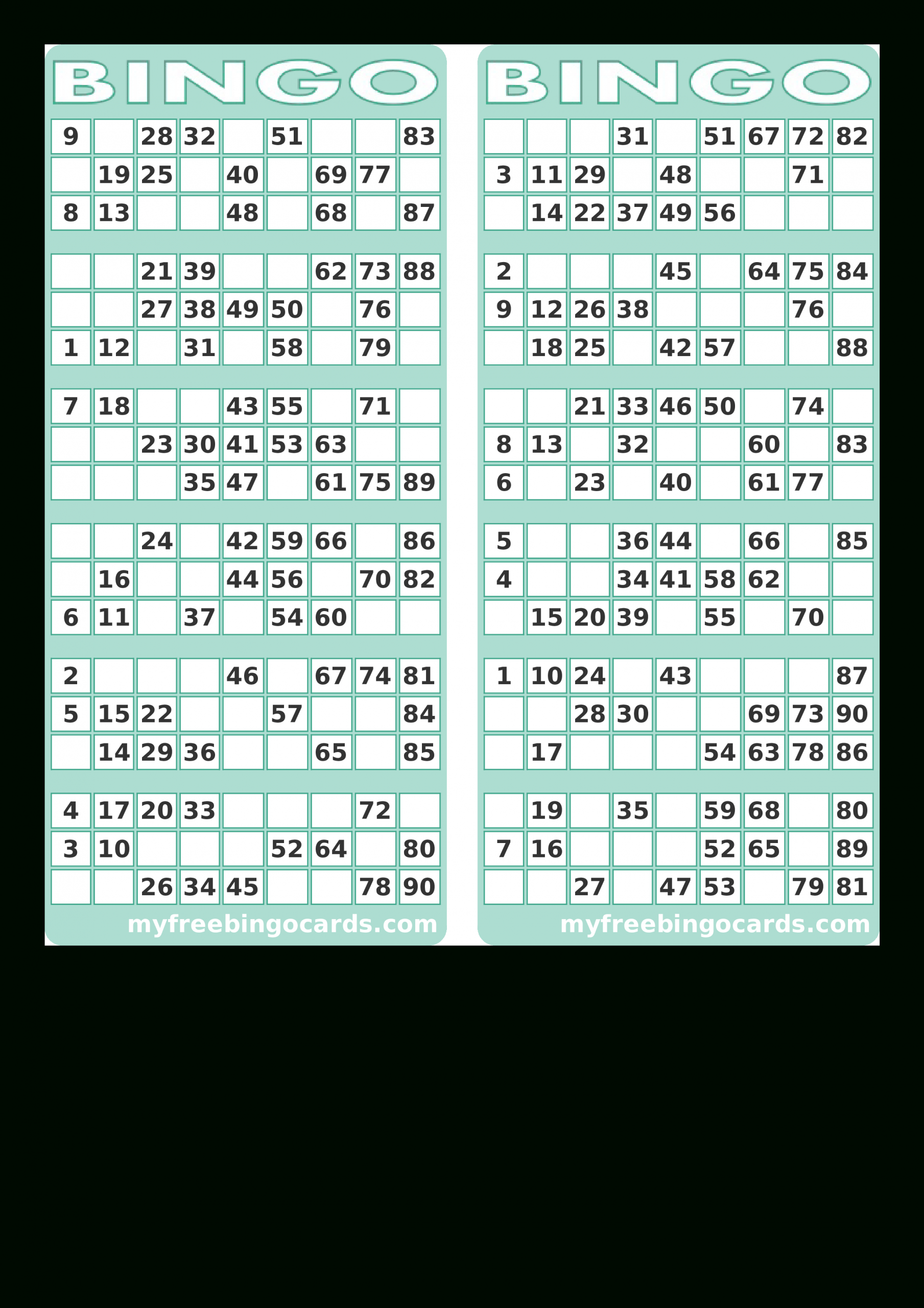 Blank Printable Bingo Card   Templates At