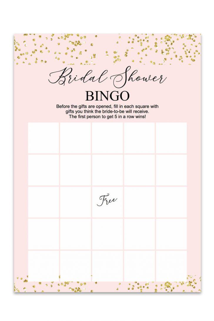 Printable Wedding Shower Bingo Cards