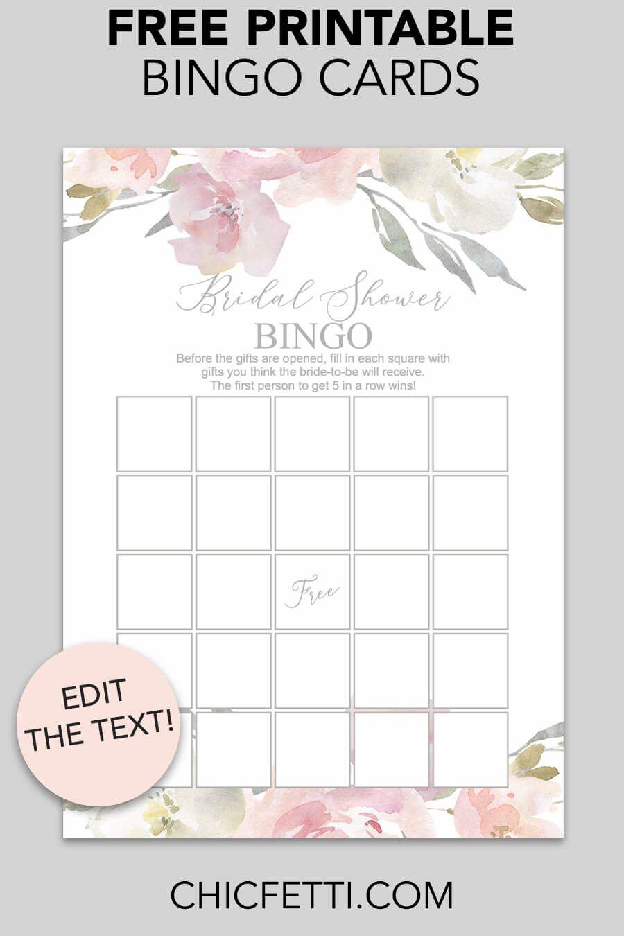 Blush Floral Printable Bridal Shower Bingo | Bridal Shower