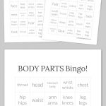Body Parts Bingo!   30 Cards And Callers Card In Pdf