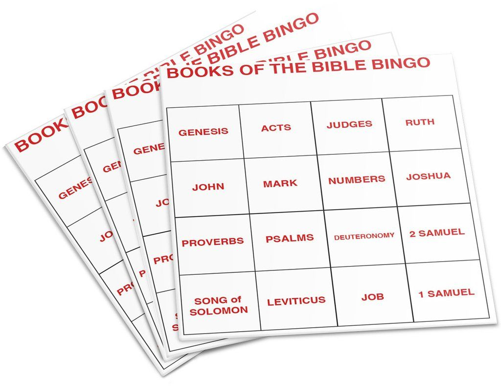 Books Of The Bible Bingo | Bible Lessons For Kids, Bible