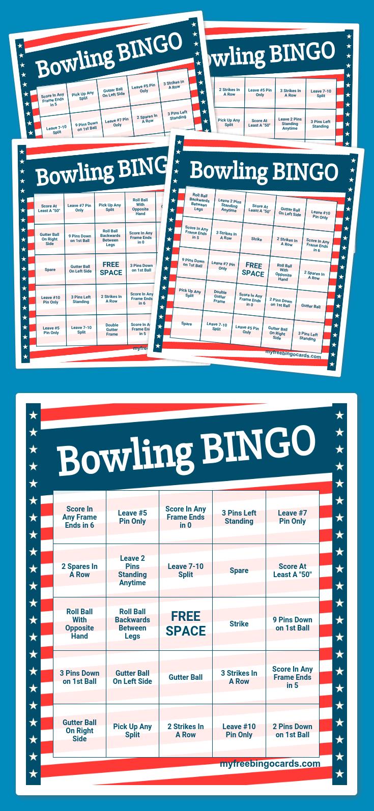 Bowling Bingo | Bingo Card Generator, Bingo Printable, Bingo