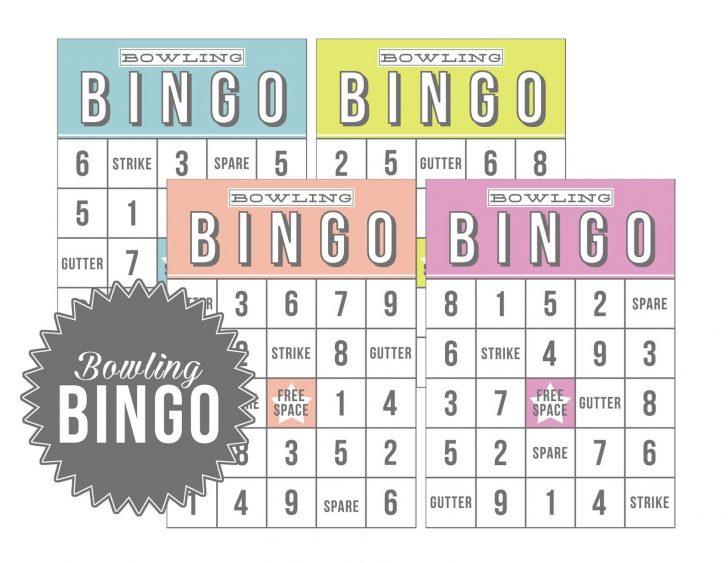 Bingo Bowling Cards Printables